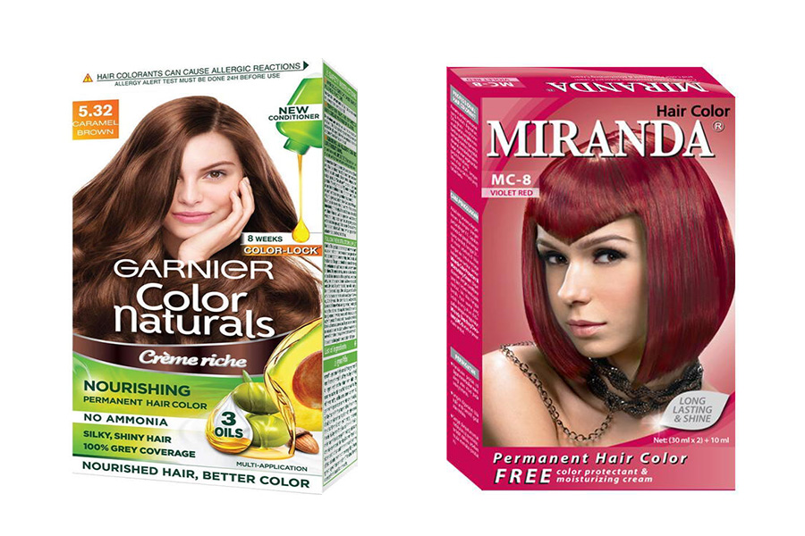 Cat Rambut Garnier vs Miranda