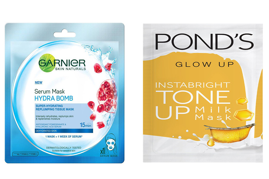 Sheet Mask Garnier vs Ponds
