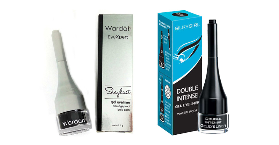 Wardah Eyexpert Staylast Gel Eyeliner vs SilkyGirl Double Intense Gel Eyeliner