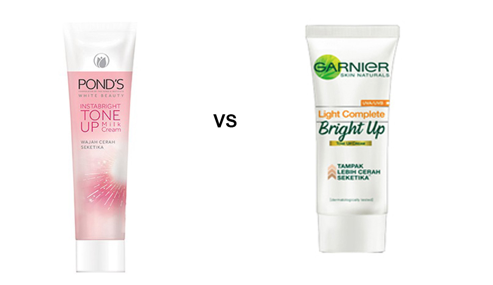 tone up ponds vs garnier