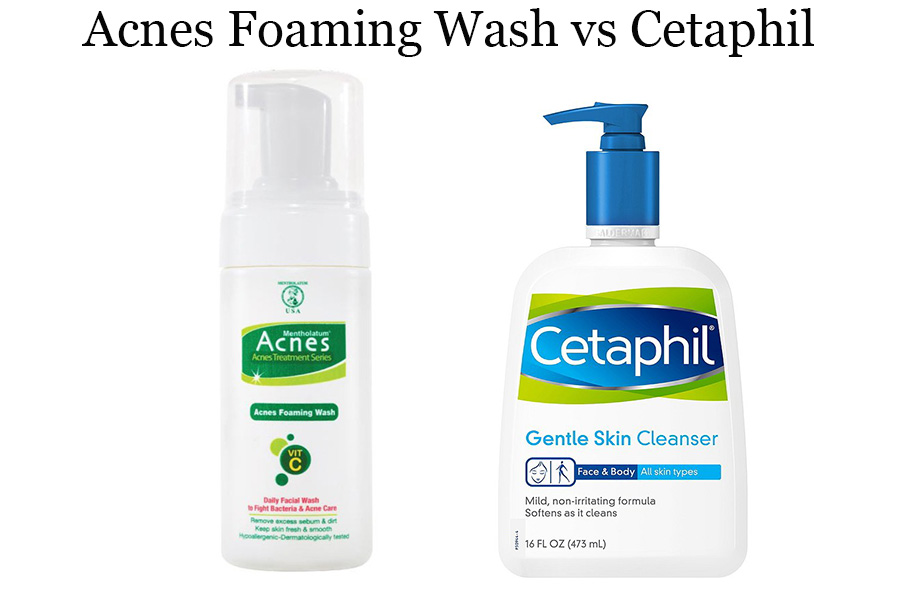 Acnes Foaming Wash vs Cetaphil
