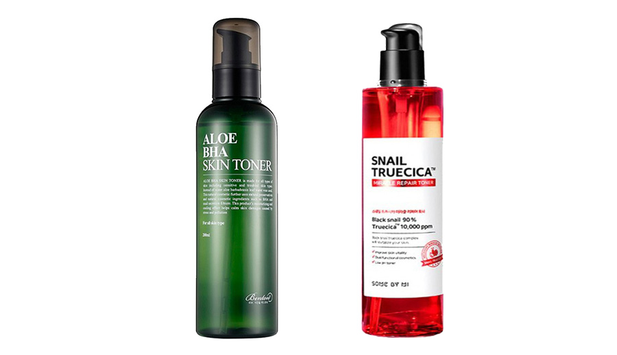 Benton Aloe BHA Skin Toner vs Some By Mi Snail Truecica Miracle Repair Toner