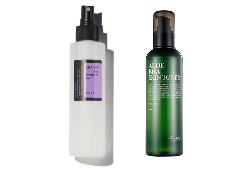 COSRX AHA BHA Clarifying Treatment Toner vs Benton Aloe BHA Skin Toner