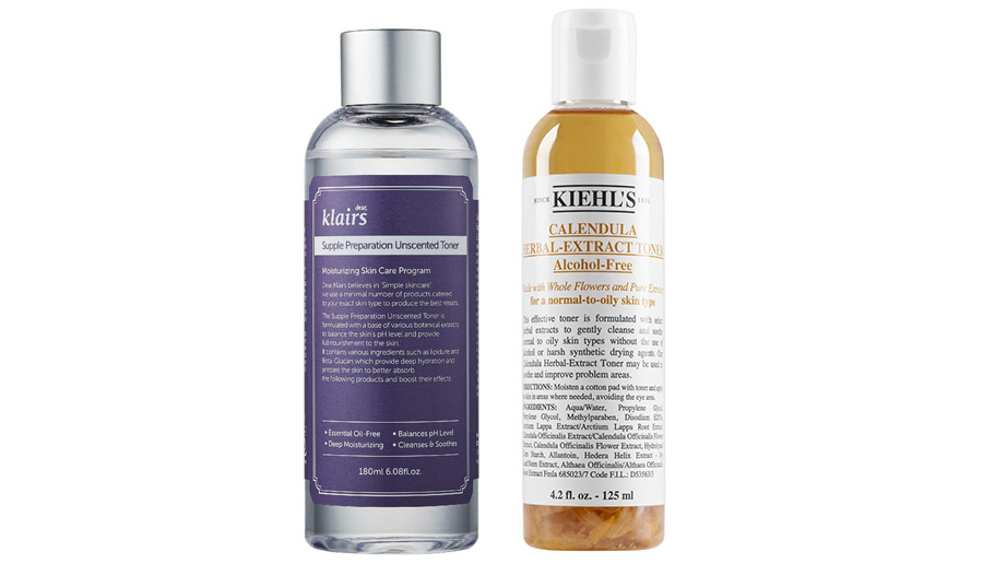 Klairs Supple Preparation Unscented Toner vs Kiehl's Calendula Herbal Extract Alcohol-Free Toner