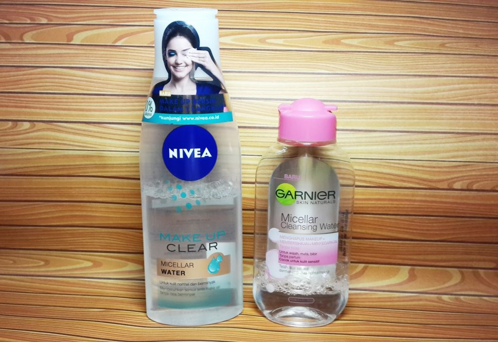 Garnier Micellar Water Cleansing Water Pink vs Nivea Make Up Clear Micellar Water