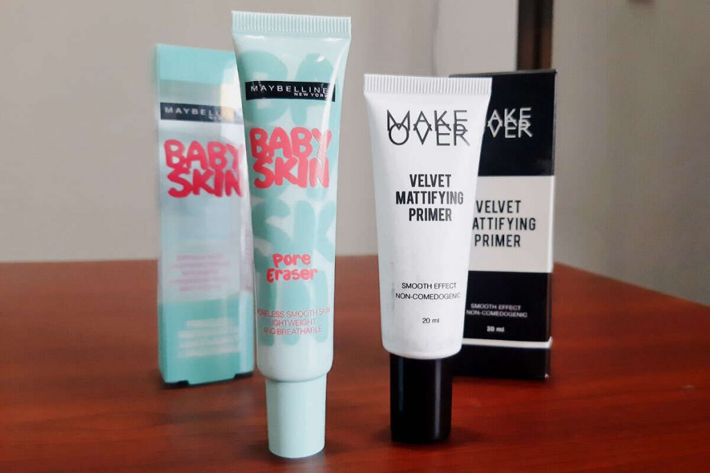 Make Over Primer vs Maybelline Baby Skin
